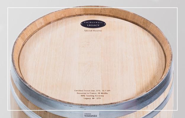 T.W. Boswell Premium French oak wine barrel