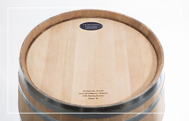 American oak wine barrels from T.W. Boswell
