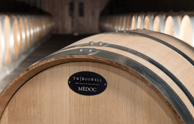 T.W. Boswell French Oak Wine Barrel